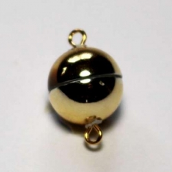 Magnetic clasp 8 mm gold color