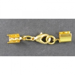 Clasp, up to 5mm, gold-plated