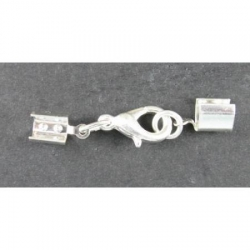 Clasp, up to 5mm, silver