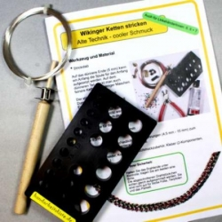 Mini Kit Viking Chain Knitting /German instructions