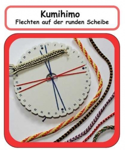Set Kumihimo-disc, with colored German instructions